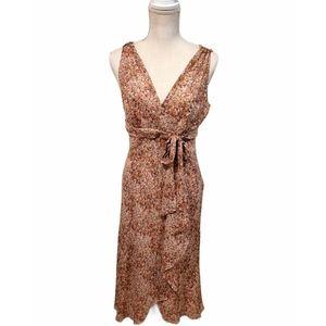 Maggy London Beige Floral Women's Midi Dress